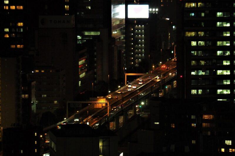 文京シビックセンターから見る首都高速5号池袋線