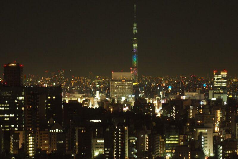 文京シビックセンターから見る上野・浅草方面の夜景