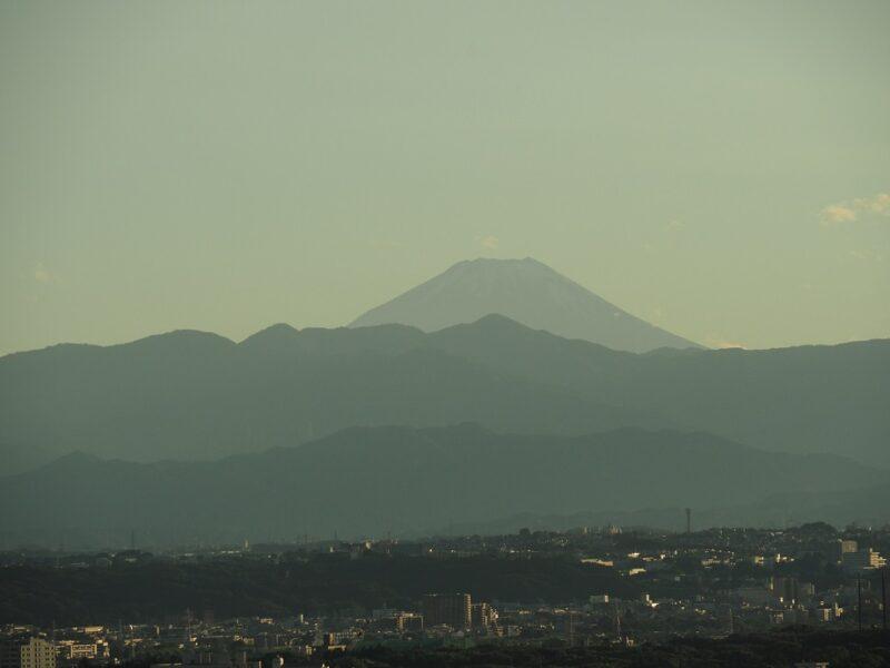 キャロットタワーから見る富士山