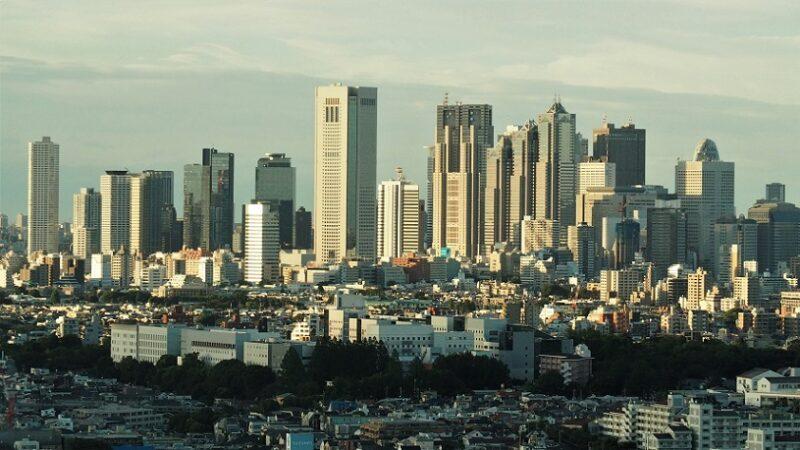 キャロットタワー展望台から見る新宿副都心