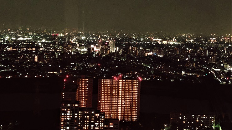 市川アイ・リンクタウン展望施設からの夜景