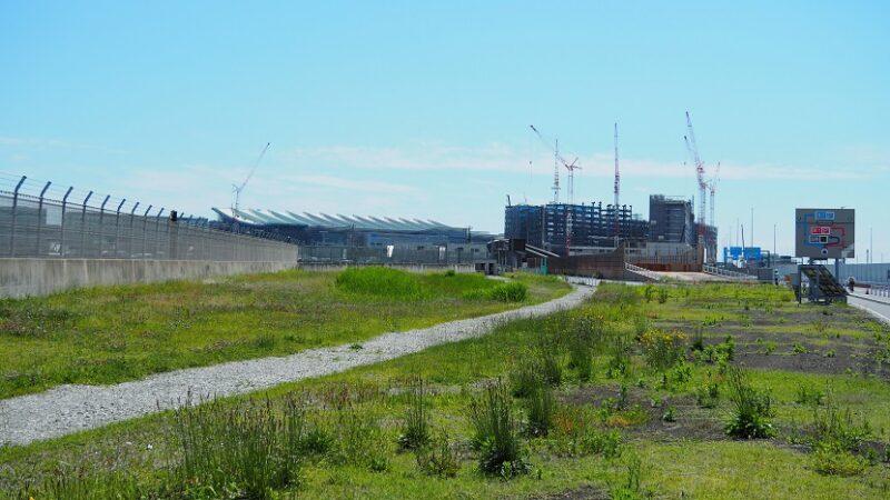 環八通りから見る羽田空港第3ターミナル