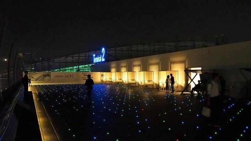 羽田空港第2ターミナル展望デッキ夜景