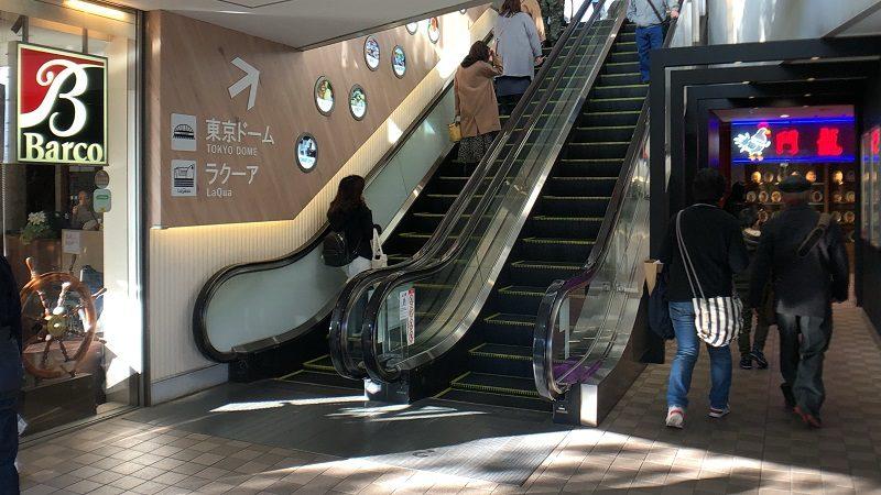 ミーツポート2階エスカレーター