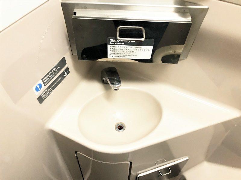 JR東日本普通列車グリーン車トイレの手洗い