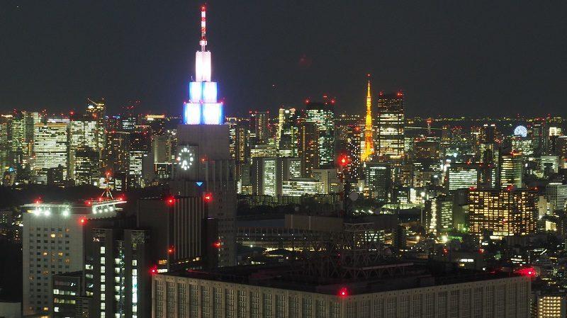 東京都庁北展望室からの夜景