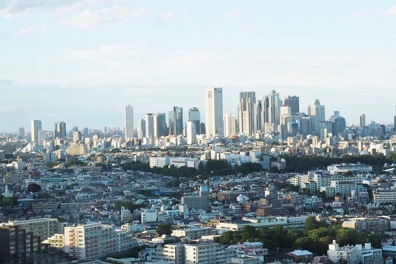 キャロットタワーから見た新宿副都心