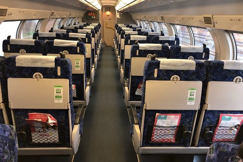 JR東日本普通列車グリーン車2階部分