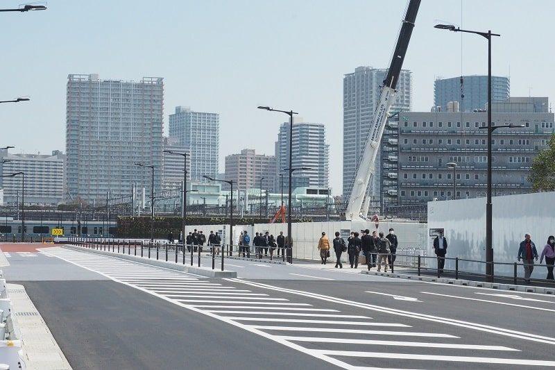 高輪ゲートウェイ駅への歩道