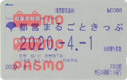 PASMO版都営まるごときっぷ