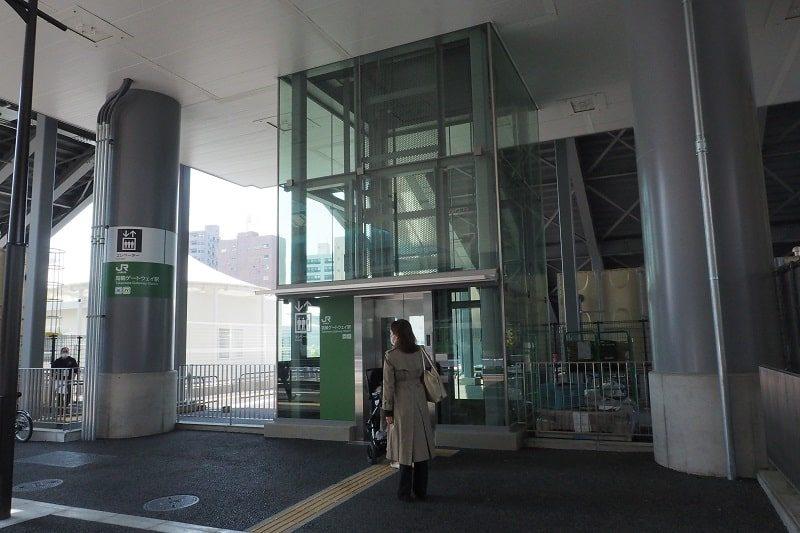 高輪ゲートウェイ駅コンコース行きエスカレーター