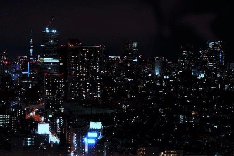 キャロットタワー展望台からの夜景