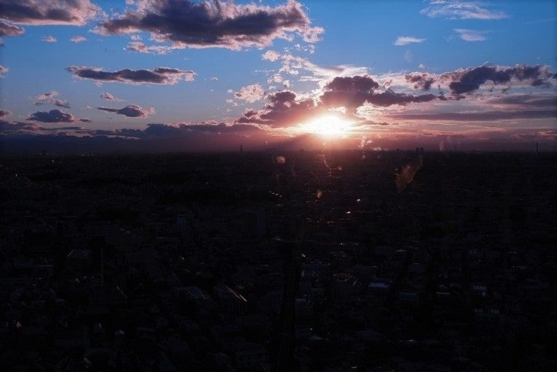 世田谷の夕陽