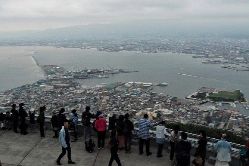 昼間の函館山からの眺望