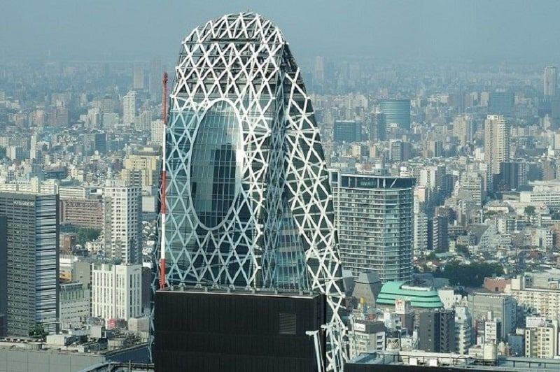 東京都庁から見るコクーンタワー