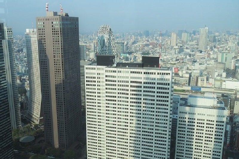 東京都庁から見る新宿の高層ビル