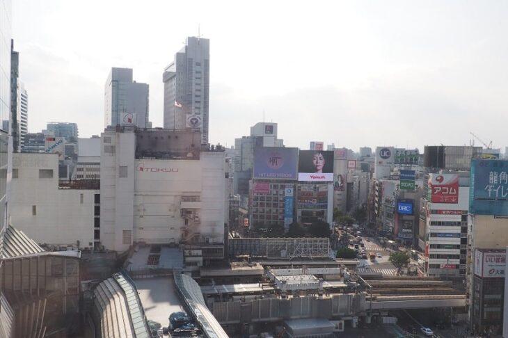 渋谷ヒカリエから見る渋谷駅周辺