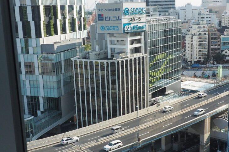 渋谷ヒカリエからの首都高速3号渋谷線
