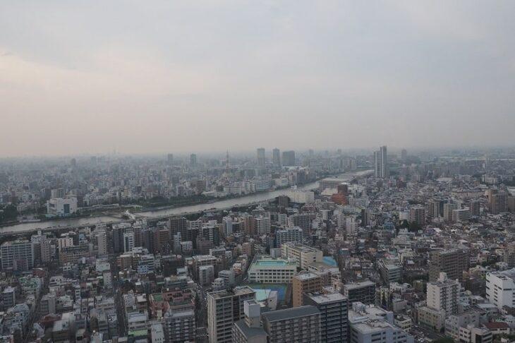 東京スカイツリーイーストタワーから見る隅田川