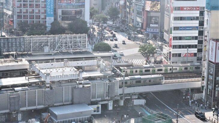 渋谷ヒカリエスカイロビーからの渋谷駅周辺