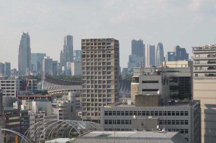 渋谷ヒカリエから見るミヤシタパーク