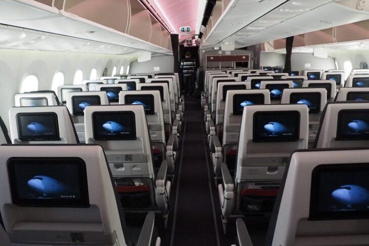 JAL国内線B787-8普通席
