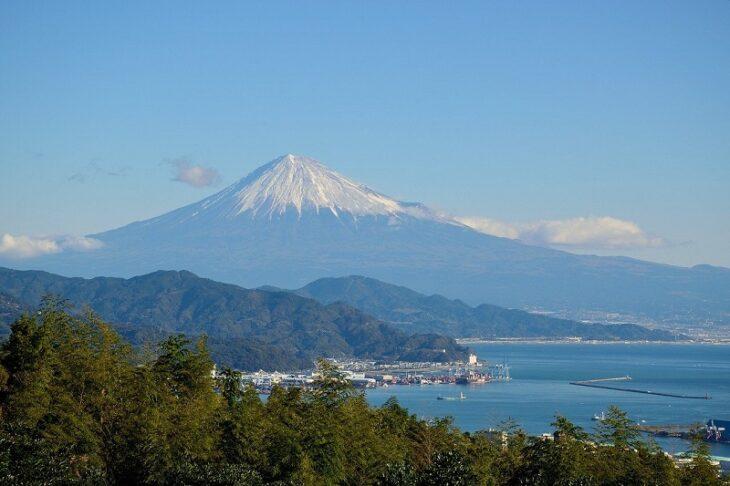 静岡側の富士山