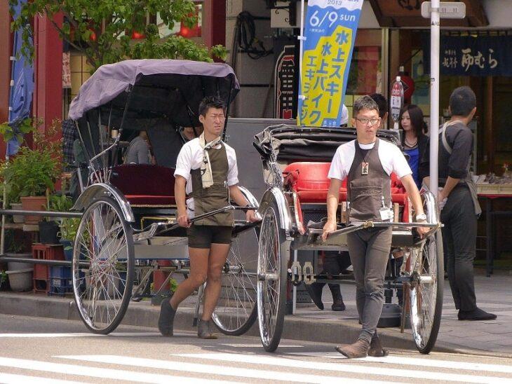 浅草での人力車