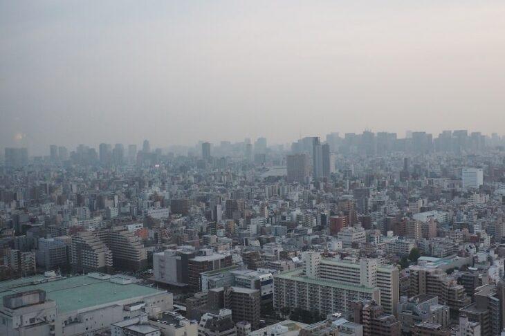 東京スカイツリーイーストタワーから見る東京都心