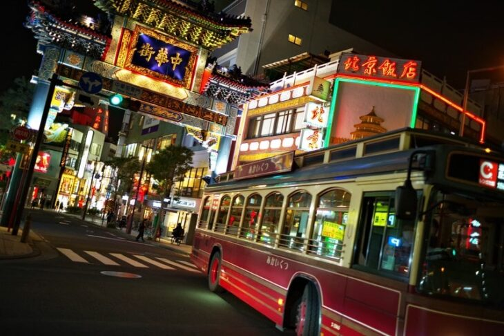 夜の横濱中華街