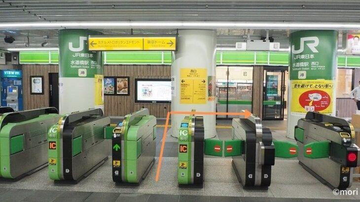 JR総武線水道橋駅西口改札